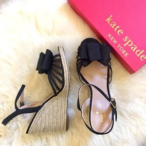 Kate Spade Espadrille Bow Wedge Sandals